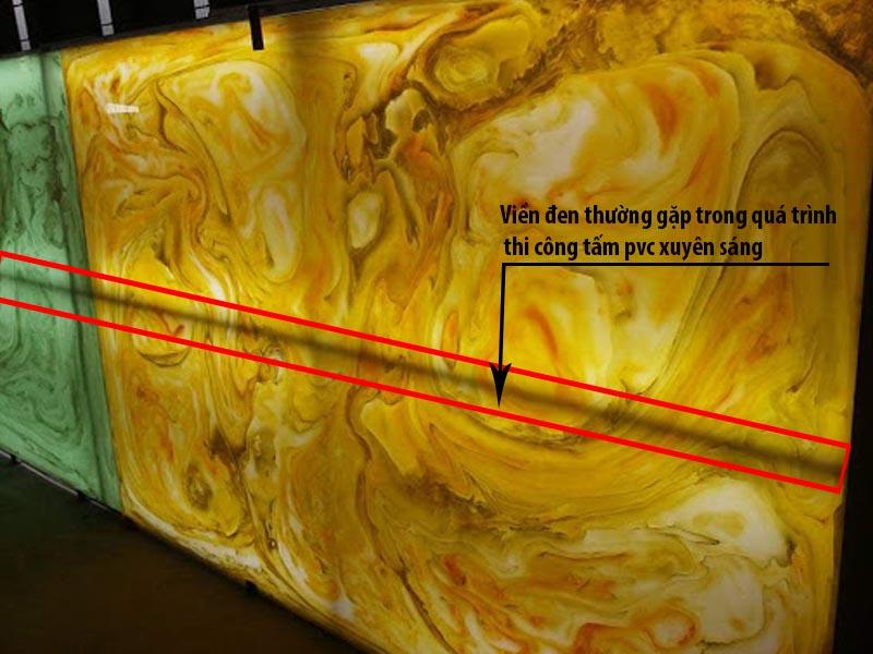Các vần đề thường gặp trong quá trình thi công tấm pvc xuyên sáng trang trí