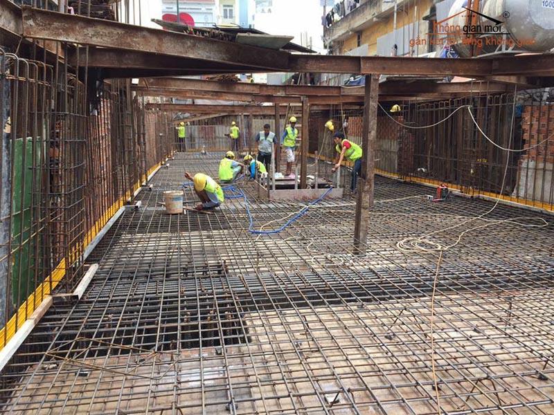 Công tác làm sắt sàn xây dựng