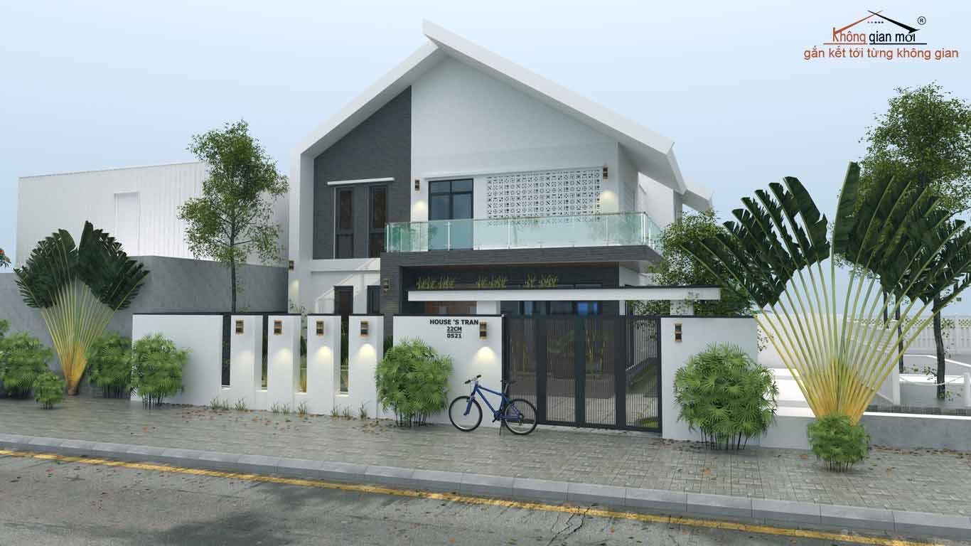 Phối cảnh thiết kế thi công nội thất - kiến trúc nhà tại Bắc Ninh
