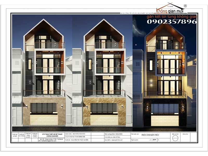 Phối cảnh thiết kế nhà phố Anh Tùng-Phan Đình Phùng-Tp. Đà lạt