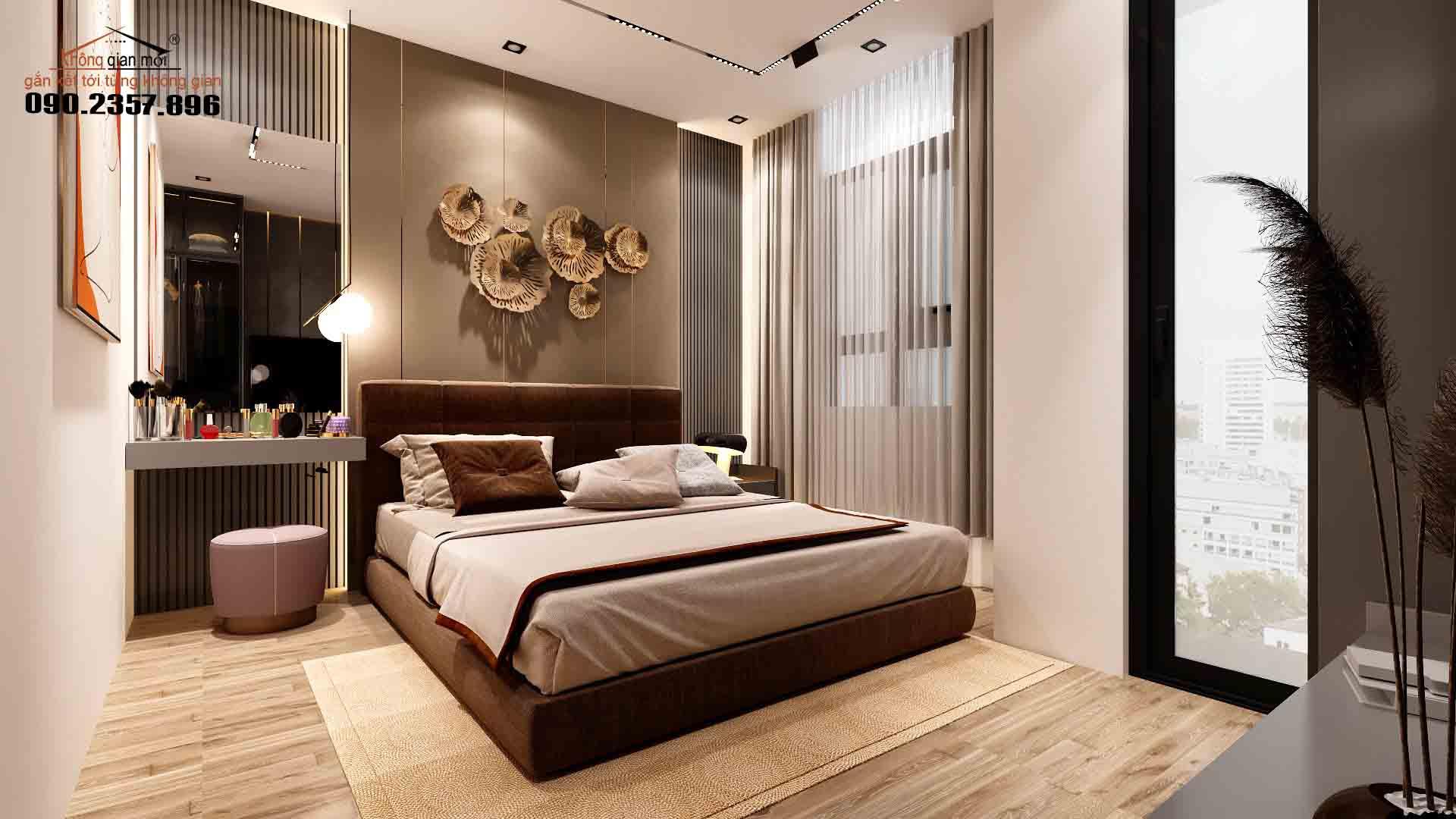 Mẫu thiết kế nội thất phòng ngủ căn hộ chung cư tại Đà Nẵng