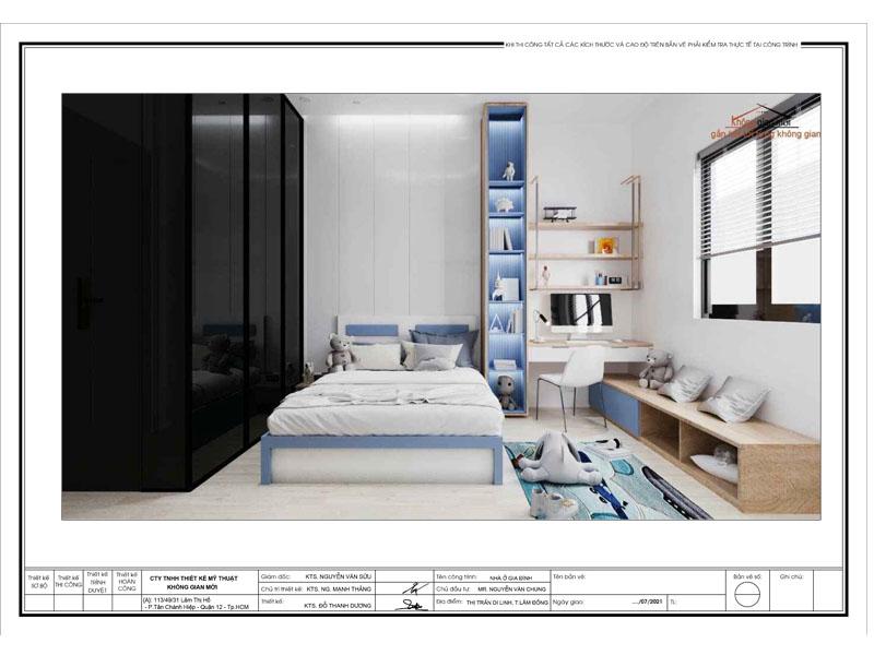 Thiết kế nội thất phòng bé trai