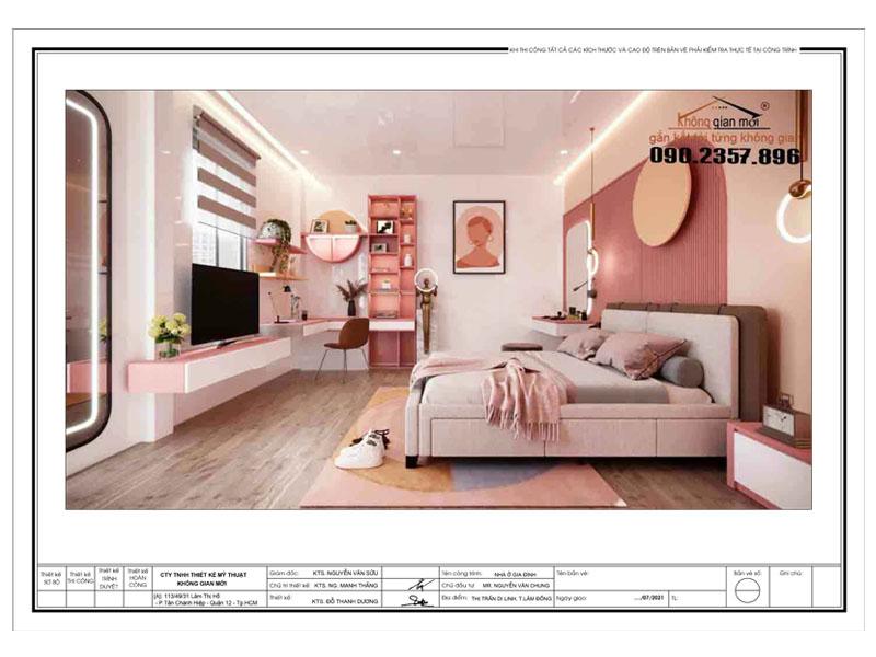 Thiết kế nội thất phòng bé gái