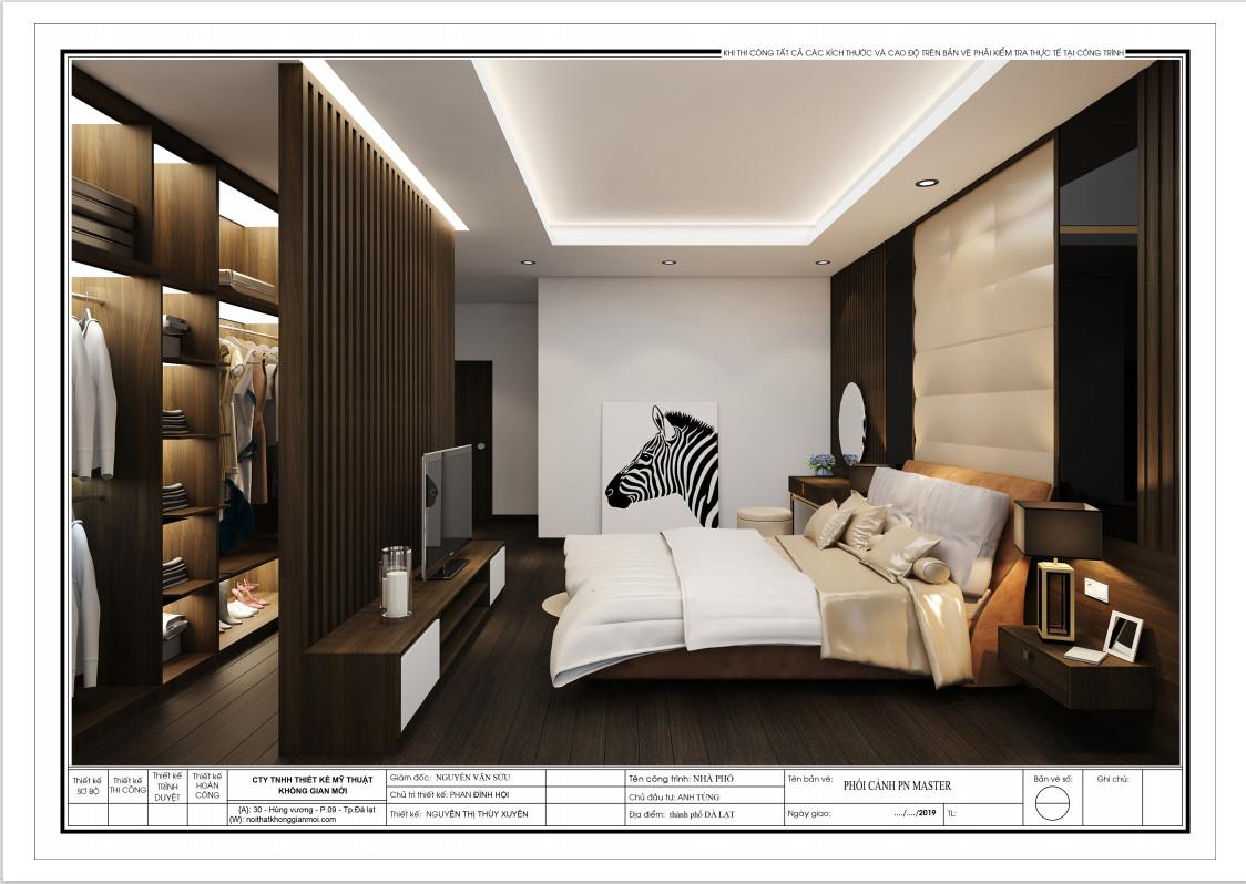 Phối cảnh thiết kế phòng ngủ Master