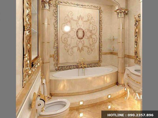 Thiết kế nội thất phòng tắm phong cách cổ điển quý tộc