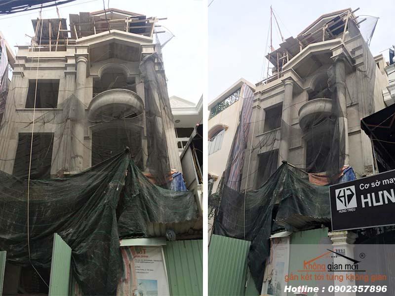 Công tác xây nhà phần thô và nhân công hoàn thiện tại Đồng Xoài Bình Phước