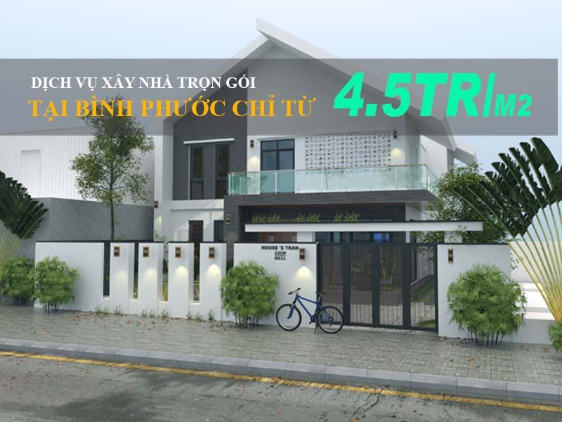 Dịch vụ xây nhà trọn gói tại Bình Phước