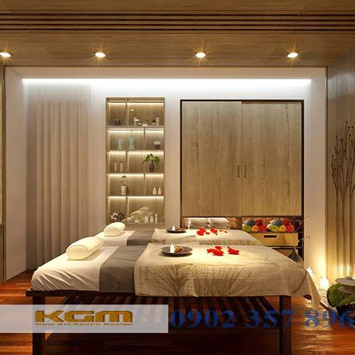 thiết kế trang trí nội thất spa