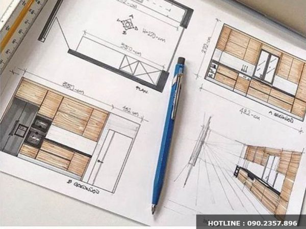 Cam kết bản vẽ trực quan của công ty thiết kế nội thất uy tín tại Đà Lạt