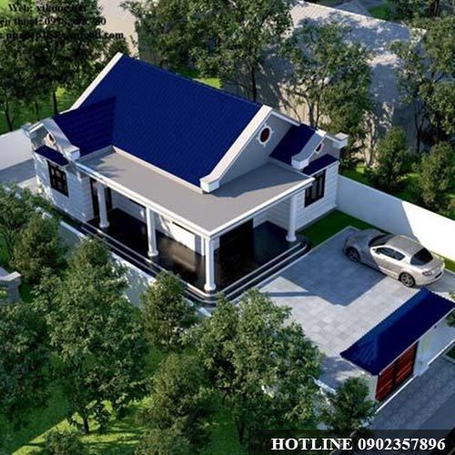 Mẫu Nhà Cấp 4 Đẹp 5x20