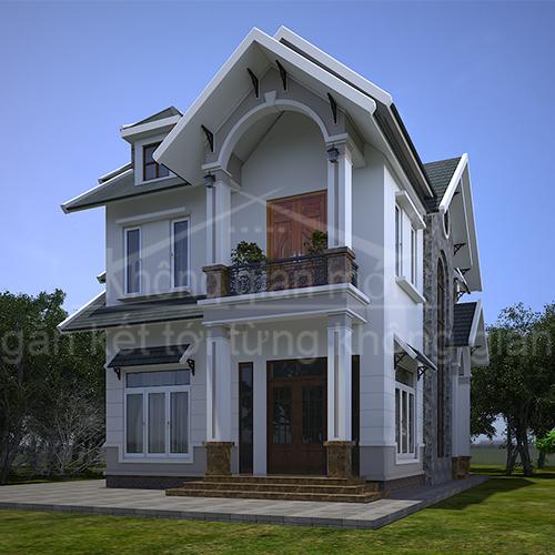 Thiết Kế Kiến Trúc Nhà Biệt Thự Cô Nga 9mx12m, Tại Đà Lạt Phong Cách Hiện Đại