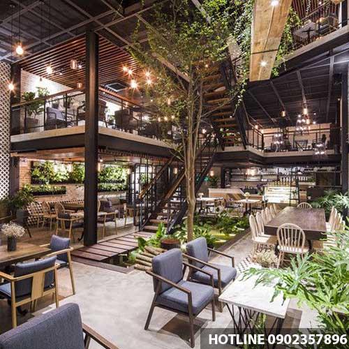 Chi Phí Thiết Kế Quán Cafe Sân Vườn