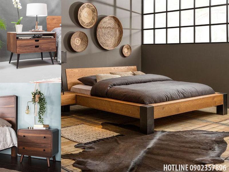 Giường gỗ tự nhiên giá rẻ tphcm