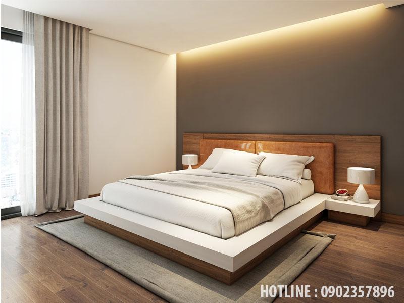 mẫu giường ngủ gỗ công nghiệp kiểu nhật bản