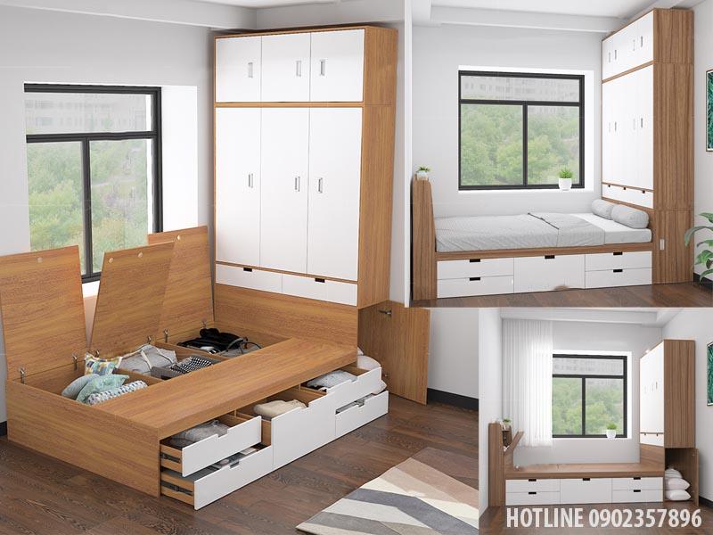 Mẫu giường ngủ thông minh giá rẻ tại HCM