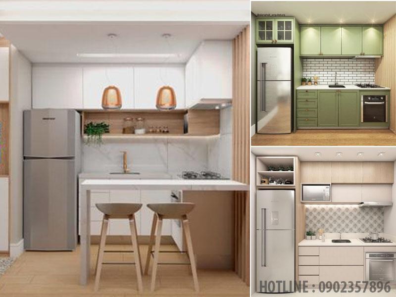 Mẫu tủ bếp cho không gian nhỏ