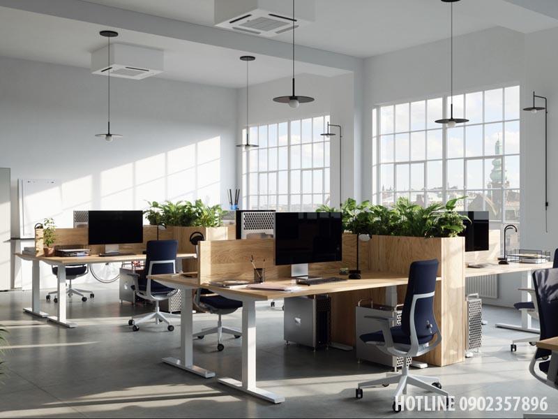 Thiết kế khu làm việc cho nhân viên