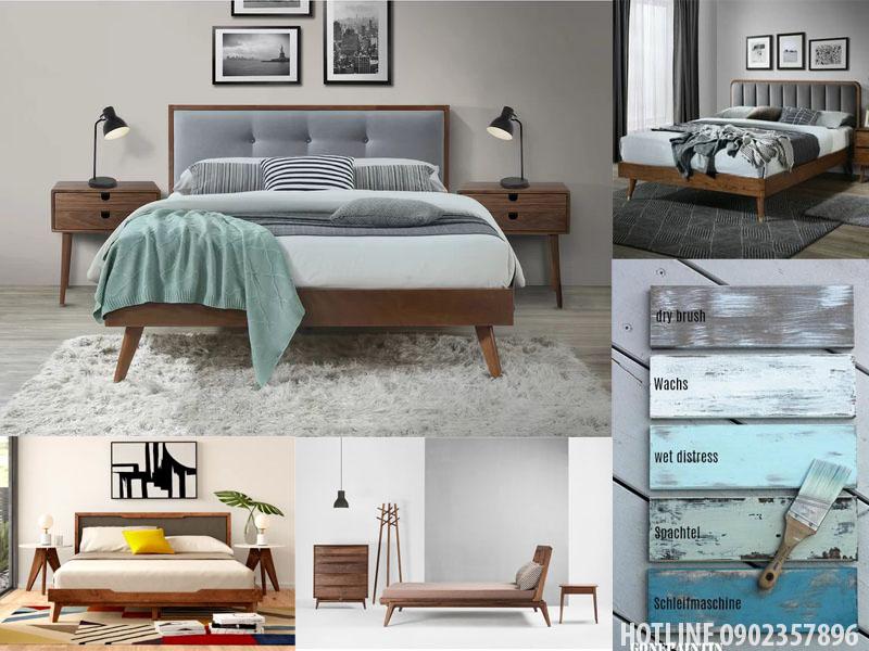Mẫu giường ngủ gỗ tự nhiên đẹp tại tphcm