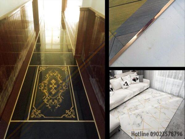 Một số không gian có thể sử dụng nẹp đồng để trang trí