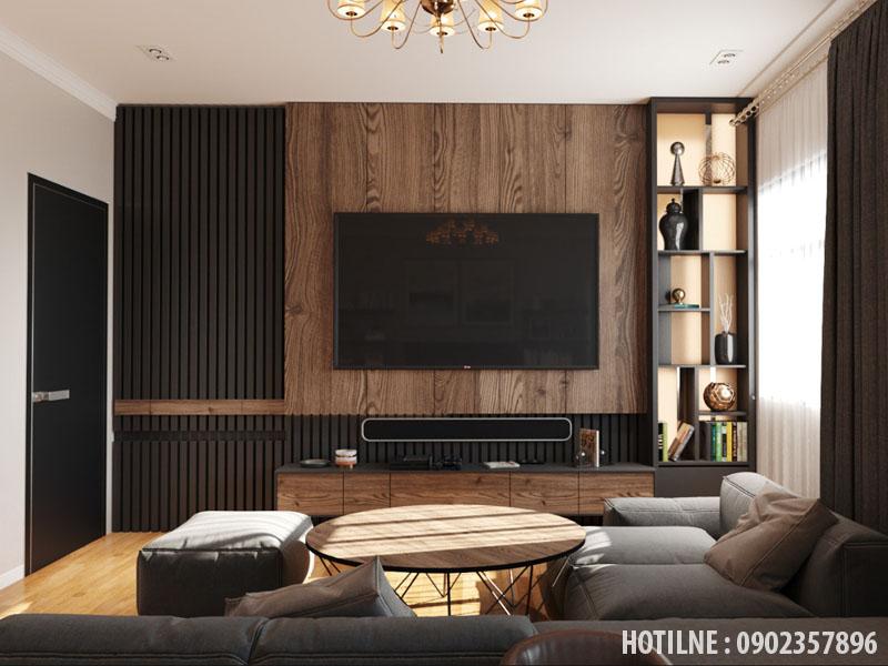 Lam nhựa ốp tường phòng khách đẹp