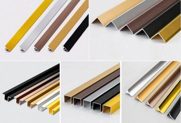 Nẹp nhôm dùng để trang trí có nhiều kiểu dáng và màu sắc khác nhau