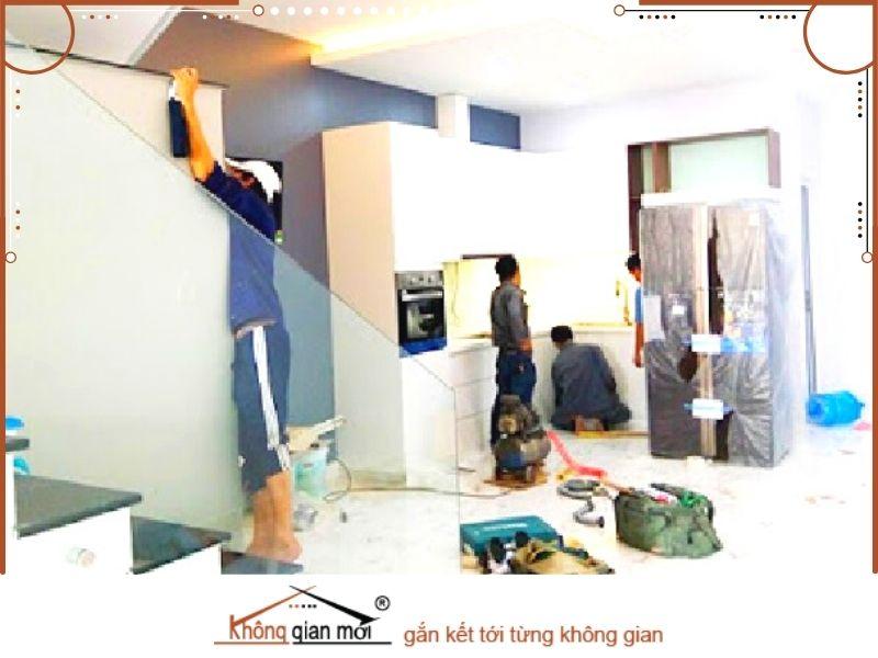 Công tác sửa chữa nhà tại huyện Giáo Phú của Không Gian Mới