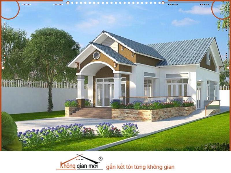 Ngôi nhà xây dựng theo lối kiến trúc nhà vườn rộng rãi và gần gũi thiên nhiên