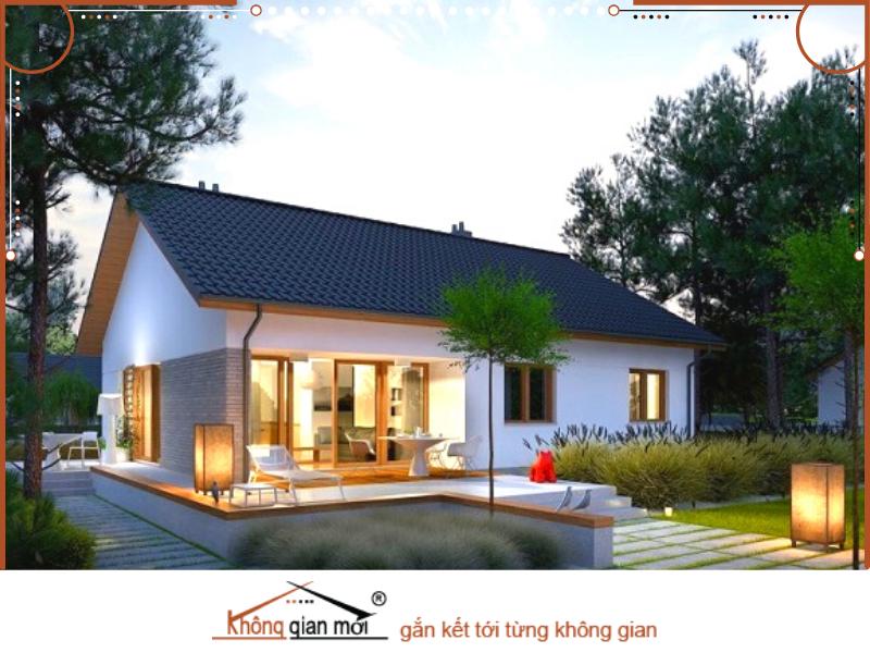 Ngôi nhà vườn cấp 4 gác lửng được xây dựng vô cùng đẹp mắt nhưng vẫn giữ được nét đẹp đơn sơ giản dị