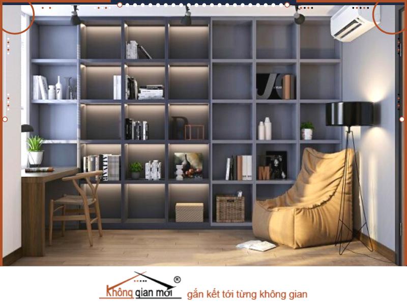 Ngoài ra gian phòng đọc sách được thế kế theo phong cách Á Đông hiện đại là một sáng kiến không tồi cho ngôi nhà của bạn.