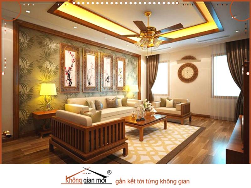 Sự kết hợp đầy sang trọng trong phong cách Á Đông hiện đại. Không gian nhà vô cùng sang trọng và độc đáo với gam màu trang nhã