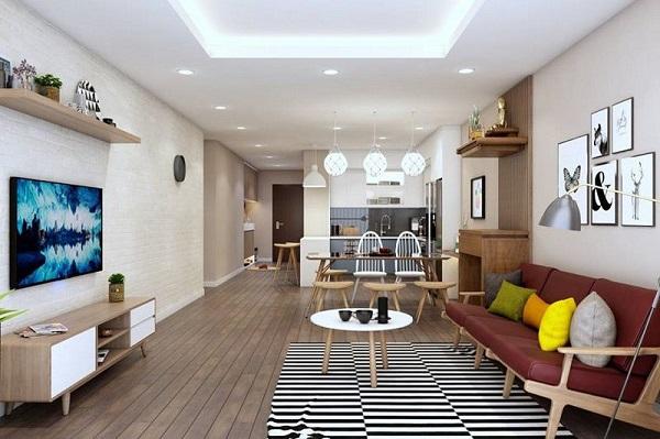 Cách trang trí phòng khách sát phòng ăn giúp tiết kiệm không gian