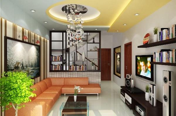 Cách trang trí phòng khách nhiều màu gần gũi